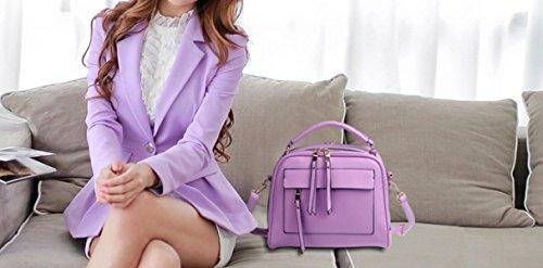 KUWOMINI.Women Bags Primavera Estate Autunno Inverno All Seasons PU Borsa A Tracolla Con Rivetto Per Evento Di Nozze / Party Casual Ufficio Formale All'aperto E Carriera Purple