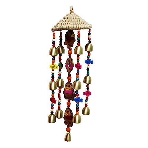 Seoimte 1 Stück Windspiel hängen handgemachte traditionelle Windspiel Dekoration Windspiel