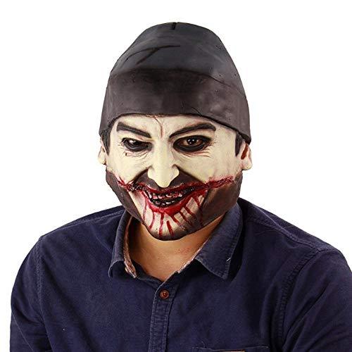 Maskerade Beängstigend Kostüm - ZXIU Masken für Kostüme Maskerade Masken Beängstigend Adult Latex Creepy Party Scary Mask Kostüm