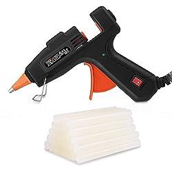 Glue Gun, Tacklife GGO20AC Hot Melt Glue Gun with 50 pcs Glue Sticks - 20W Electric Glue Gun Heats Up Quickly for DIY Arts, Hobby, Craft, Metal, Wood, Card & More
