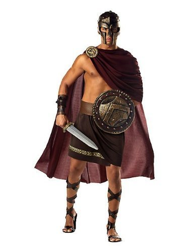 s Fancy Dress Greek Roman Spartacus Costume Adult Outfit (Men: 40/42) by Mega Fancy Dress (Roman Spartan Kostüm)