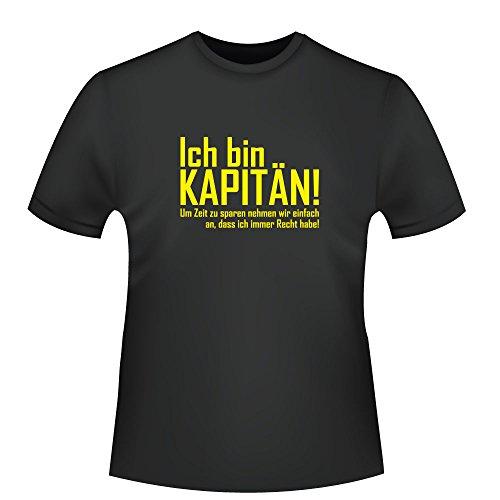 Ich bin Kapitän!, Herren T-Shirt Schwarz