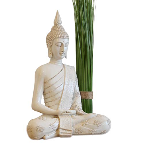 Thai Buddha Weiß Statue groß 40 cm - 8