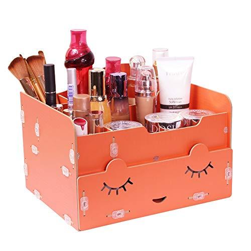 GaoJinZhuan Kosmetik Aufbewahrungsbox Kreative Schublade Kamm Schmuckschatulle Holz Desktop Dressing Box (Farbe : Orange) - Dressing Kamm