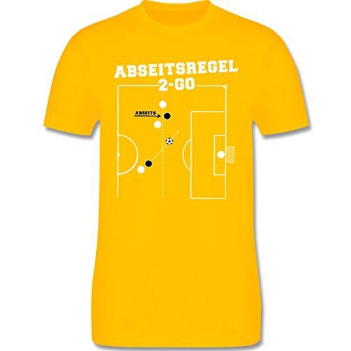 Fußball - Abseitsregel-2-Go - Herren Premium T-Shirt Gelb