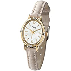 Limit Women's Quartz Watch with White Dial Analogue Display and White PU Strap 6979.35