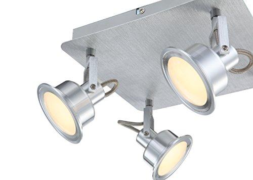 Luce di soffitto di LED senza tempo satinato alluminio vetro