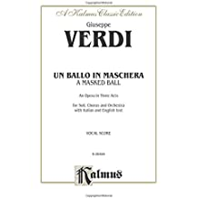 Un Ballo in Maschera: Vocal Score (Italian, English Language Edition), Vocal Score (Kalmus Edition)