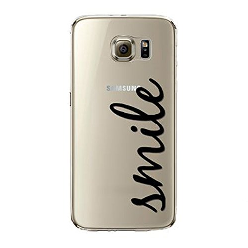 Coque Galaxy S6 Edge Vanki® Ultra Hybrid Coussin d'air TPU Absorption de Choc Ajustement Parfait Etui Silicone Souple Coque Pour Samsung Galaxy S6 Edge-Mot design personnalisé 8