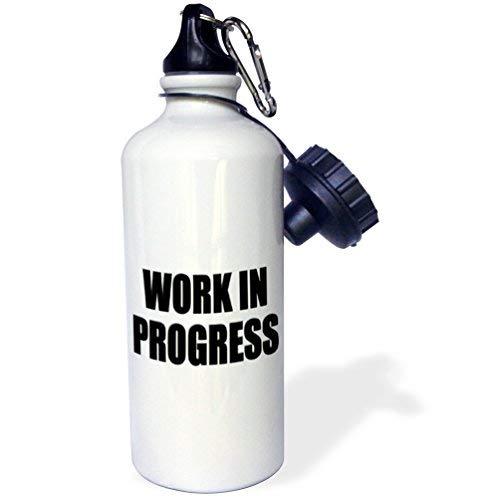 ANGELA G Work In Progress Sport-Trinkflasche, Mehrfarbig, 53,3 ml
