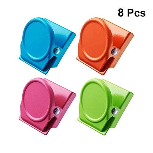 Toyvian Kühlschrank-Magnet-Clip, Metall, magnetisch, für Büro, Schule, Zuhause, 8 Stück