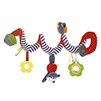 JYSPORT Baby Crib Toy - Wrap Around Activity Spiral Stroller Mobile Car Seat Toys - Bed Hanging New Infant plush Toys - with 0-36 Month Baby (stripe)