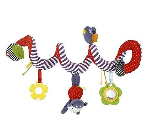jysport Baby Kinderbett Spielzeug–und Activity Spirale um Buggy Mobile Auto Sitz Spielzeug–Bett aufhängen New Infant Plüsch Toys–mit 0–36Monate Baby Einheitsgröße gestreift