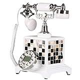 *Telefon Festnetztelefon - - Retro Kreativknopfwahl Festnetztelefon, Heimbüro Festnetztelefon, antikes europäisches Dekortelefon (30X25CM) Pang Pang*