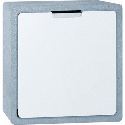 Serafini Briefkasten Concret CQ - Korpus Beton/weiß 40 x 40 x 12 cm