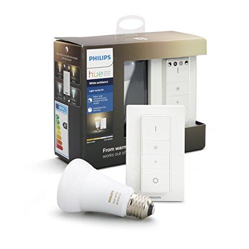 Philips Hue White Ambiance Kit con 1 Lampadina LED E27 e Telecomando Dimmer Switch