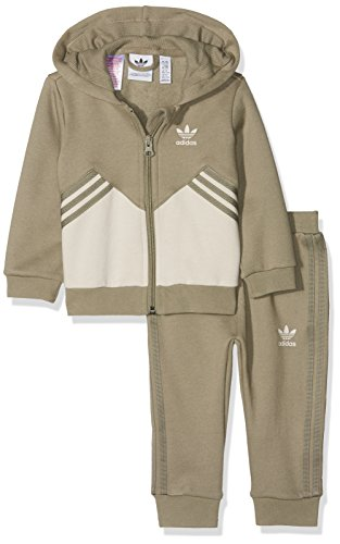 adidas I M FL Chándal, Unisex bebé, marrón (cartra/marcla), 92 (1/2 años)