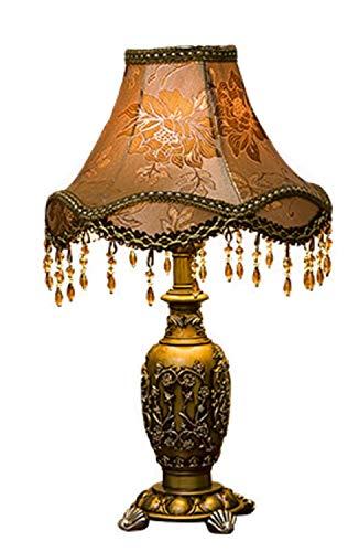 Hand Geschnitzten Couchtisch (DJSMtd Harz Tischlampe, Druck Lampenschirm Klassischen Stil Hand Geschnitzte Tischlampe Restaurant Couchtisch Flur Tischlampe Beleuchtung Tischlampe)