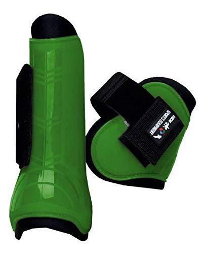 HKM 561213 HKM Springgamaschen und Streichkappen, 4er Set, Vollblut/Warmblut, mehrfarbig (grassgrün/Schwarz)