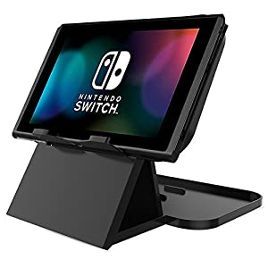 Nintendo Switch Compact Playstand, JOTO Faltbarer Multi Angle Stand Stand für Nintendo Switch 2017 – Schwarz