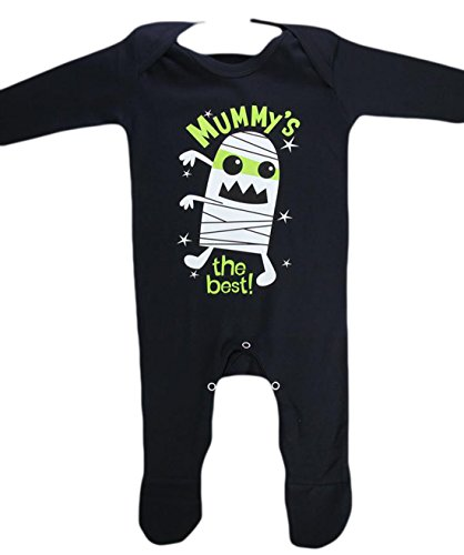 Baby Kostüme Mumie (erdbeerloft - Unisex - Baby Kostüm Romper Body Strampler Mumie Mummy´s the best Halloween Karneval, Mehrfarbig, Größe 50-62, 1-3)