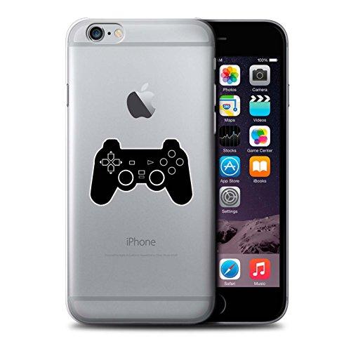 Stuff4 Hülle / Case für Apple iPhone 6S / Weiß N64 Muster / Spielsteuerung Kollektion Schwarz PS1/PS2/PS3