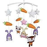 [Animaux mignons] Baby Crib Musical mobile Color Room Decor, grand cadeau
