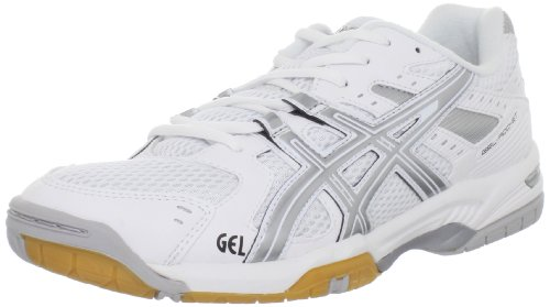 Scarpa da pallavolo femminile GEL-Rocket 6, bianca / argento, 11 M US