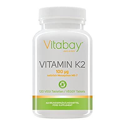 Vitamin K2 100 ?g (natural menaquinone MK7) (120 vegan tablets) from Vitabay ®