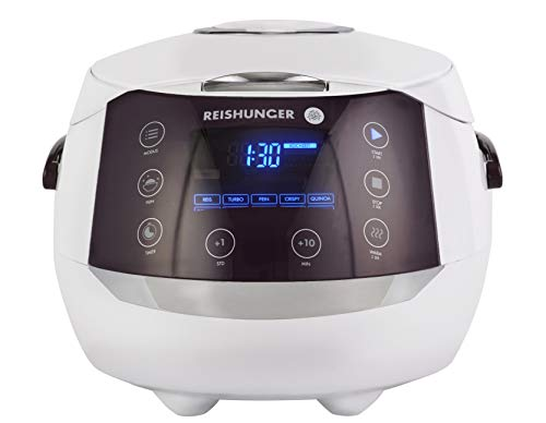 Reishunger Digitaler Reiskocher (1,5l/860W/220V) Multikocher mit 12 Programmen,...