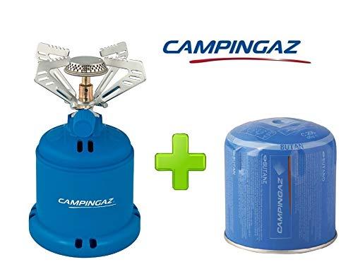 ALTIGASI Réchaud à gaz Camping 206 S Stove Campingaz Puissance 1,230 W - Poids 280 grammes + 1 Cartouche C206 GLS de 190 grammes