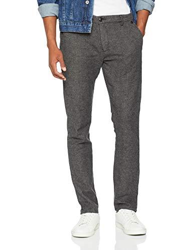 b2ae2499 SELECTED HOMME Herren Hose SLHSLIM-Arval Houndstooth Pants W NOOS Grau Grey,  W33/