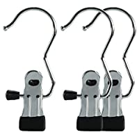 HANGERWORLD Pack of 25 Heavy Duty Single Chromed Metal Clip Coat Hangers-Lots of Uses Around The Home and Office, Silver