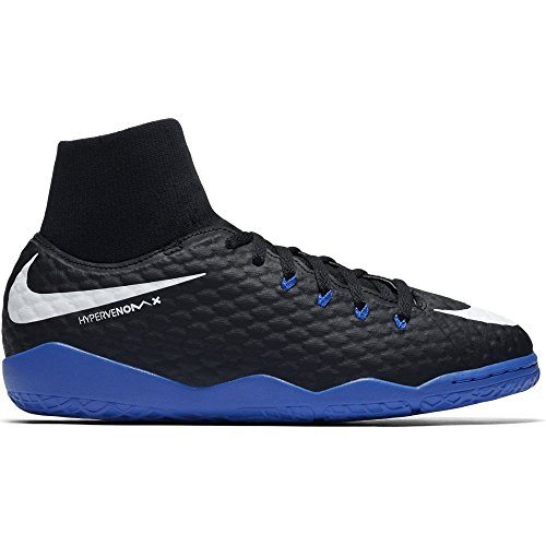 NIKE HYPERVENOM PHELON 3 DF IC 917774-002 NERO-BLU - Scarpe da calcetto junior indoor