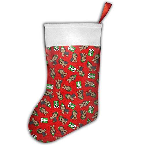 Coco-la-la merry yorkies (red small) christmas calza natalizia, 45,7cm