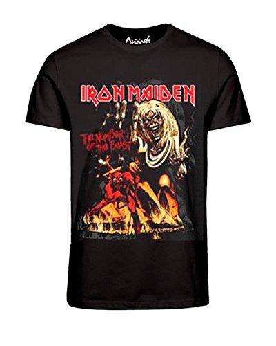 Jack & Jones Herren T-Shirt - Iron Maden - Metallica - Motörhead Tee Schwarz
