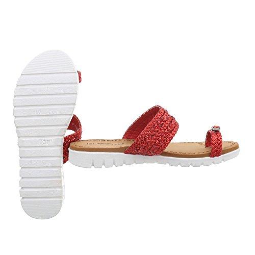 Sandalo Infradito Ital-design Sandalo Donna Sandalo Rosso A-95