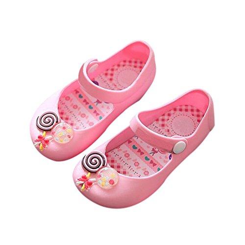 Meijunter Baby Mädchen Jungen Süß Süßigkeiten Niedlich Weich Gelee Anti-Rutsch Flaches Lässige Schuhe Kleinkind Kinder Strand Sandalen Regen Stiefel Pink