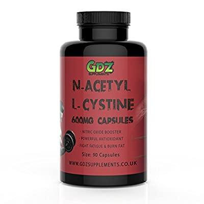 N-Acetyl L-Cystine 600mg ? 90 Capsules ? Nitric Oxide Booster & Powerful Antioxidant by GDZ Supplements