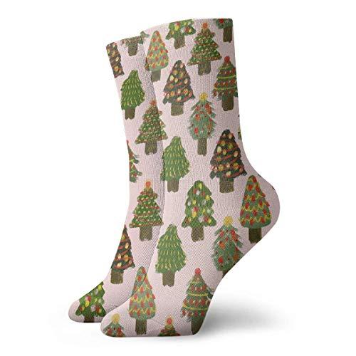 deyhfef Knöchelsocken, Weihnachtsbaum, modisch, kurz, Rundsocken, für Damen und Herren -