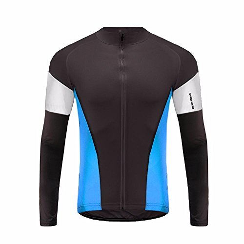 UGLYFROG #T14 Langarm-Radsport-Trikot Breathable High Top Full Zipper Winter Fahrrad-Kleidung (Condor-anzug)