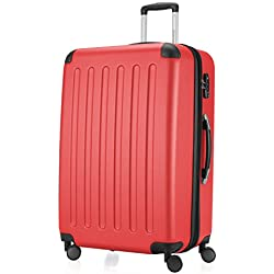 HAUPTSTADTKOFFER - Spree - Valise plus Grande de soute, Trolley Rigide ABS, TSA, extensible, extra léger, 4 roues, 75 cm, 119 L, Rouge