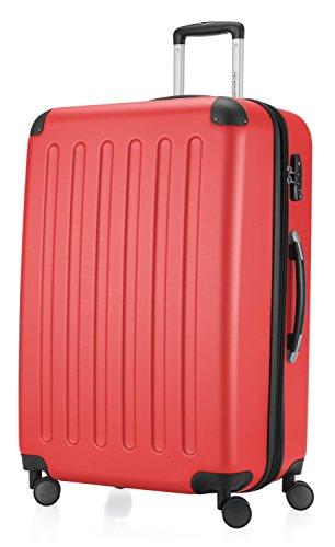 HAUPTSTADTKOFFER Spree - Hartschalen-Koffer Koffer Trolley Rollkoffer Reisekoffer, TSA, Bagaglio a mano, 75 cm, 128 liters, Rosso (Rot)
