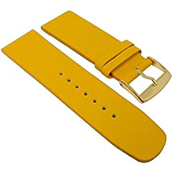 Graf Manufaktur Spree Womens Replacement Watch Strap Leather Band Yellow 27105G Bridge Width: 26 mm