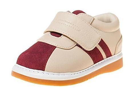 Little blue lamb squeaky chaussures baskets rouge, beige - Beige - Beige Rot, 24