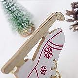 Weihnachten Dekoration Weihnachten kreative Skates Anhänger weiß Aufhängen Deko für Zuhause, Kaminsims, Weihnachten