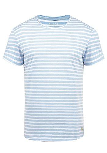 Blend Genesis Herren T-Shirt Kurzarm Shirt Streifenshirt mit Streifen und Rundhalsausschnitt, Größe:XXL, Farbe:Soft Blue (74641) (V-neck Soft Tee)