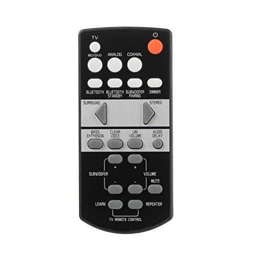 Ersatz Fernbedienung für Yamaha YAS-207 YAS-105 YAS-103 YAS-107 YAS-203 ATS-1070 SRT-700 Soundbar - Lautsprecher Ersatzfernbedienung für ATS-1050 FSR66 FSR71 FSR73 FRS78 & Mehr, Schwarz Remote Control - Ersatz Yamaha Fernbedienung