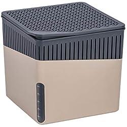 Wenko 50232100 Design Raumentfeuchter Cube 500 g Luftentfeuchter, Fassungsvermögen 0.8 L, 13 x 13 x 13 cm, beige