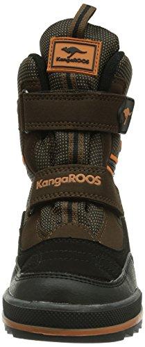 KangaROOS Kanga-SnowRacer 2021 Unisex-Kinder Schneestiefel Braun (dk brown/orange 370) avdj3jABb